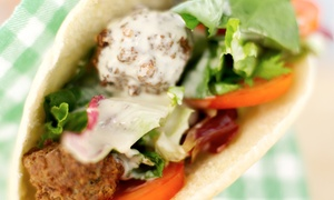 Falafel House: Falafel in Pita with a Drink for One or Two at Falafel House, Two City Locations