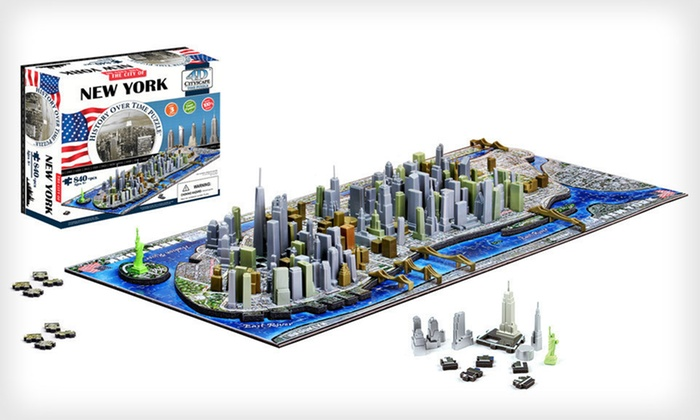 4D Cityscape Puzzles: $24 for a 4D Cityscape Puzzle ($39.99 List Price). 10 Options Available. Free Shipping and Free Returns.