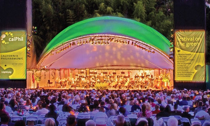 Festival on the Green presented by the California Philharmonic - Santa Anita Race Track : California Philharmonic's Festival on the Green for Two at Santa Anita Racetrack (Half Off). Two Options Available.