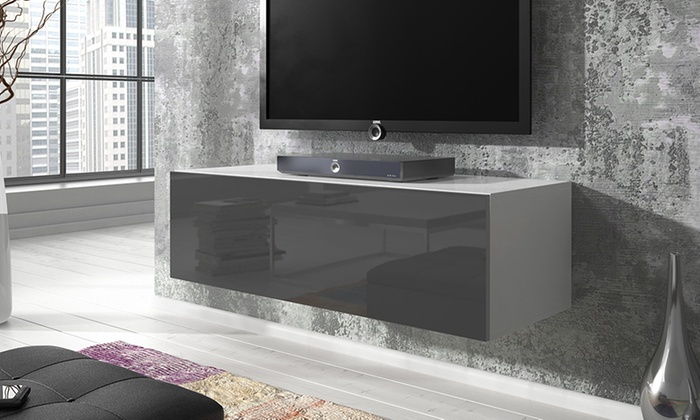 meuble tv suspendu groupon. Black Bedroom Furniture Sets. Home Design Ideas