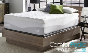 "ComforPedic Loft 4.5"" Quilted Memory Foam Mattress Topper"