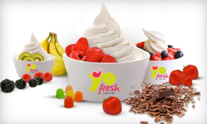 YoFresh Yogurt Cafe - Jenkintown: Frozen Yogurt at YoFresh Yogurt Cafe (Half Off). Two Options Available.