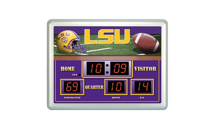 Ncaa Scoreboard Wall Clocks Groupon Goods