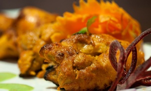 Nawab Fusion Grill: Four-Course Prix Fixe Indian Fusion Dinner for Two or Four at Nawab Fusion Grill (Up to 43% Off)