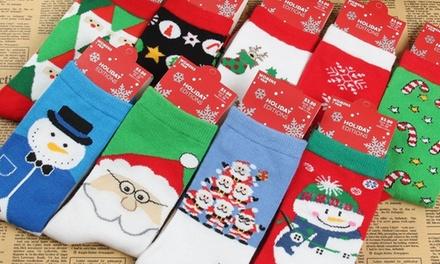 5 paar sokken in winterontwerp