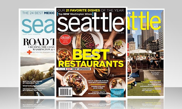 """Seattle Magazine: $15 for a Two-Year Subscription to """"Seattle"""" Magazine ($30 Value)"""