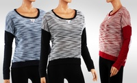 Colorblock French Terry Womens Sweater