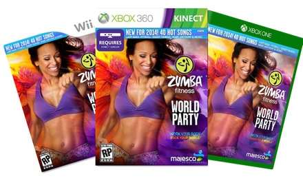 Zumba Fitness World Party or Zumba Fitness Core for Xbox 360 Kinect, Wii, Wii U, or Xbox One