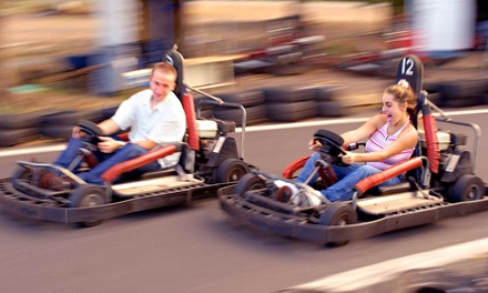 $22 for  Five Go-Kart and Mini-Golf Passes and One Photo at Cooter's Place ($45 Value)