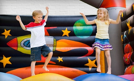 Inflatable Slide Rental or Kids' Party Package for Up to 15 from Bounceria (Up to 67% Off)