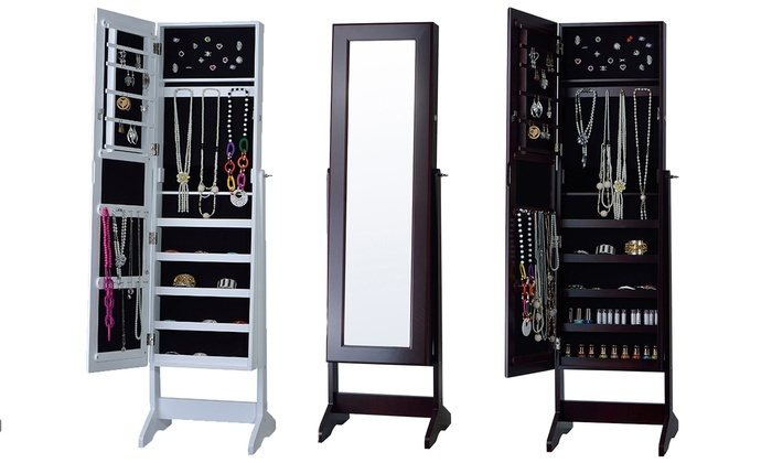 Beau Cheval Free Standing Jewelry Armoire With Mirror ...