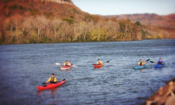 River Canyon Adventures - Signal Mountain: Three-Hour Kayak Rental for One or Two from River Canyon Adventures (Up to 52% Off). Three Options Available.