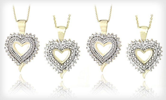 Diamond Heart Necklaces: $25 for a Diamond Heart Necklace or Diamond Open-Heart Necklace ($99.99 List Price). Free Shipping and Free Returns.
