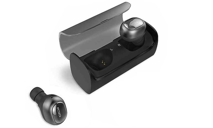 $59 for a Pair of QCY Mini Wireless Bluetooth Earphones with Spare Earbuds and Charging Box