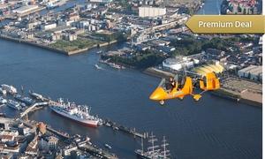 Flugtraum: Wertgutschein über 150 € anrechenbar auf einen bis zu 90-minütigen Rundflug über Hamburg bei Flugtraum für 74,90 €