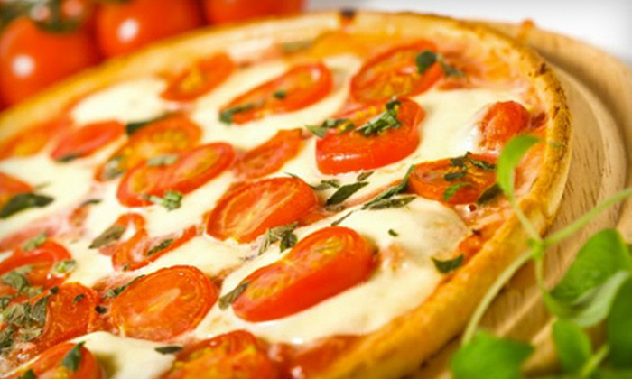 Sicilian Pizza & Pasta - Downtown Louisville,Fourth St.: $12 for Pizza Meal with Large Pizza, Side Salads, and Fountain Drinks at Sicilian Pizza and Pasta (Up to $23.85 Value)
