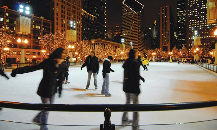 McCormick Tribune Ice Rink - Central Chicago: Ice-Skate Rental for Two, Four, or Six at the McCormick Tribune Ice Rink in Millennium Park (Up to 52% Off)