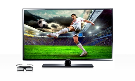 "groupon daily deal - Samsung 40"" 3D LED 1080p 240Hz HDTV with 3D Glasses (UN40EH6030). Free Returns."