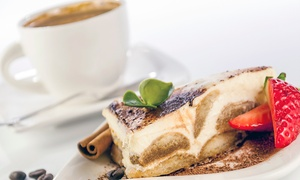 Charlie's: Hot Drink and Cake For Two or Four from £5 at Charlie's Coffee Shop