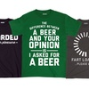 Men's Humor Tees (Extended Sizes Available)
