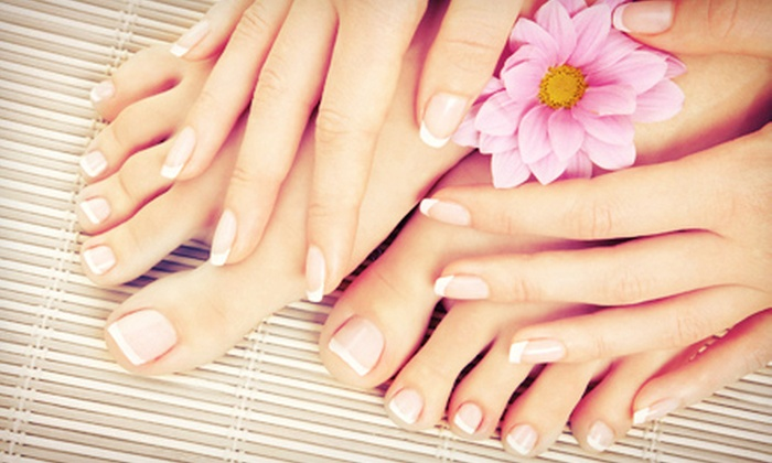 Blu Laguna Salon and Spa - Laguna Beach: One, Two, or Three Signature Manicures and Pedicures at Blu Laguna Salon and Spa (Up to 68% Off)