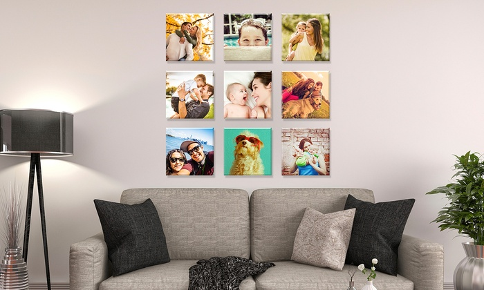 Photo Prints on Square Canvas from Fabness (Up to 84% Off). Six Options Available.