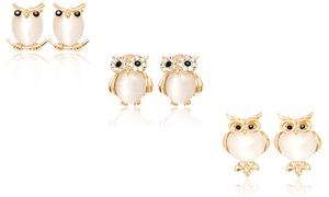 Crystal Owl Stud Earrings with Swarovski Elements at Crystal Owl Stud Earrings with Swarovski Elements, plus 9.0% Cash Back from Ebates.