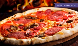 "Grimaldi's Pizzeria: ""Zagat""-Rated Coal-Fired Brick-Oven Pizza at Grimaldi's Pizzeria (Up to 50% Off). Three Options Available."