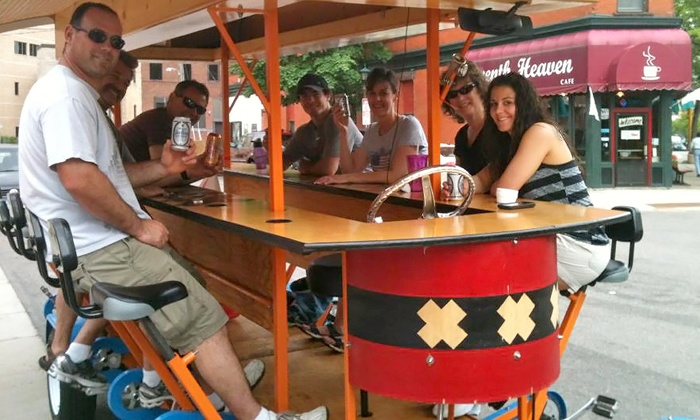 Amsterdam Pedals - Amsterdam Bar & Hall: Two-Hour Group Pedal-Bar Ride for Up to 16 People on a Weekday or Weekend from Amsterdam Pedals (Up to45% Off)