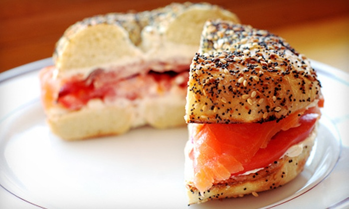 Bagel Jay's - Multiple Locations: $29 for Punch Card for Six Bagel Sandwiches and Drinks at Bagel Jay's. Three locations available. (Up to $58.14 Value)