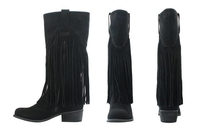 Olivia Miller Liberty Women's ... Fringe Riding Boots lCIJz