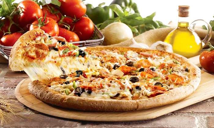Papa Johns - Olympia - Olympia: $18.99 for Two Large Pizzas from Papa John's (Up to a $41.98 Value)
