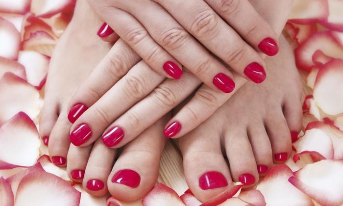 M J Salon &color Group-sherry Davis - Sudley: A Spa Manicure and Pedicure from M J salon &color group (50% Off)