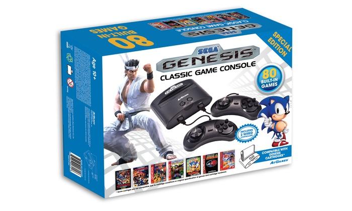 Sega genesis classic game console groupon - Sega genesis classic console with 80 built in games ...