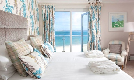 Cornwall: 13 Nights for Two with Breakfast, Wine, Spa Access and Option for Dinner at 4* Carbis Bay Hotel & Estate
