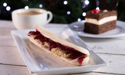 Panini, Slice of Gateau and Drink for One or Two at Druckers Vienna Patisserie, 18 Locations (Up to 41% Off)