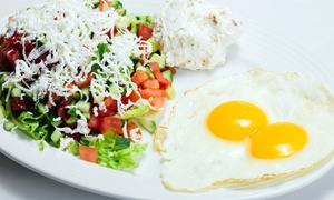 Aroma Bar and Grill: Breakfast for Two or Four at Aroma Bar and Grill ( 36% Off)