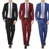 Braveman Men's 2-Piece Slim-Fit Suits with Gift Tie Set
