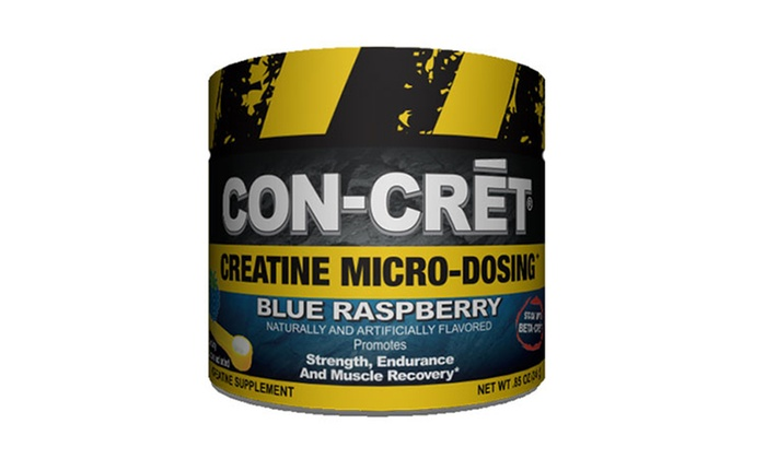 24-Serving Bottle of ProMera CON-CRET Creatine Powder: 24-Serving Bottle of ProMera CON-CRET Creatine Powder in Blue Raspberry or Pineapple