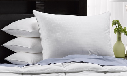 4-Pack of Hotel Luxe 300TC Cotton Gel-Filled Soft Pillows