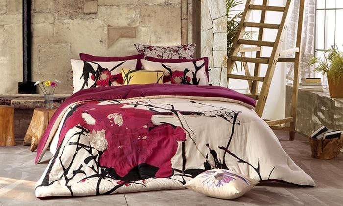 Kensie Blossom Cotton Bedding Groupon Goods