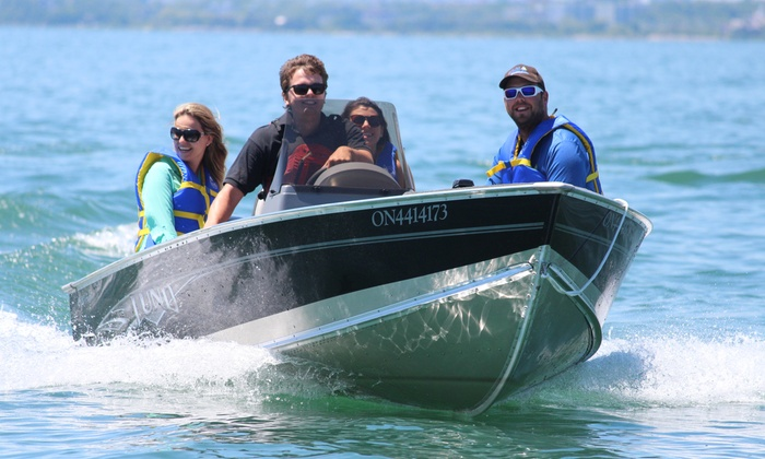 Harbourfront Boating & Fishing - Downtown Toronto: C$89 for Power Boat Rental and Fishing Gear for Up to Five from Harbourfront Boating & Fishing (C$198 Value)