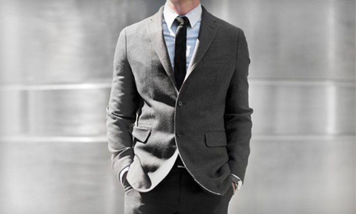 Cuffs & Collars - Cuffs & Collars: $599 for a Men's Custom-Tailored Suit Package at Cuffs and Collars (Up to a $1,644 Total Value)
