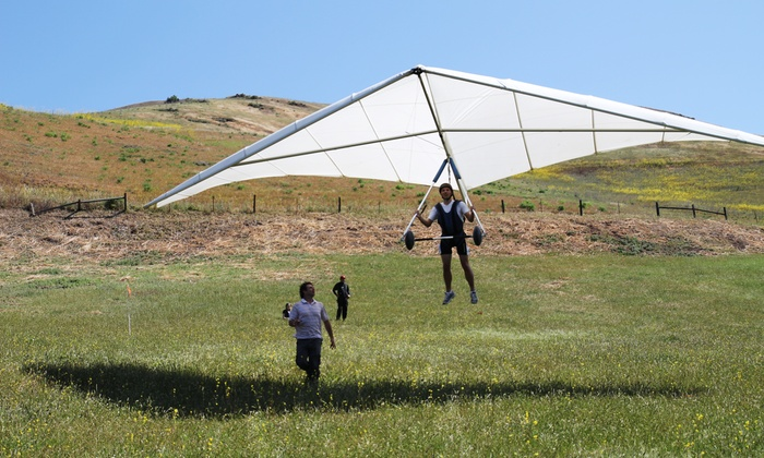 East Bay Hang Gliding - San Francisco: Hang-Gliding Lesson for One, Two, or Four or a Tandem Flight for One from East Bay Hang Gliding (Up to 46% Off)