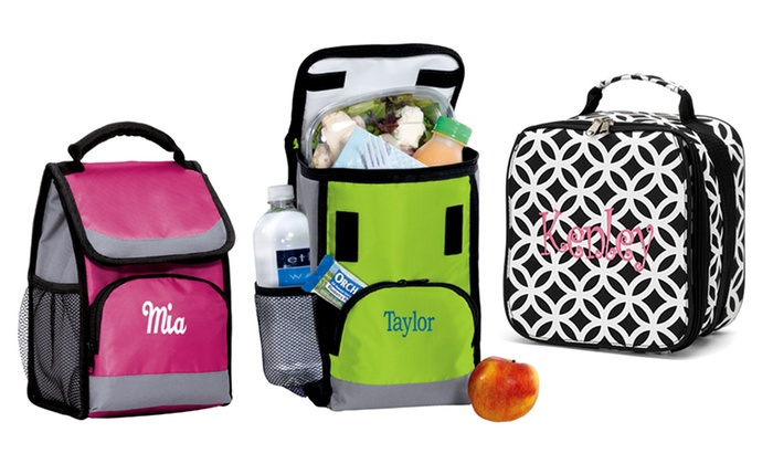 Embellish Accessories and Gifts: One or Two Personalized Black-and-White or Color Lunch Bags from Embellish Accessories and Gifts (Up to 55% Off)