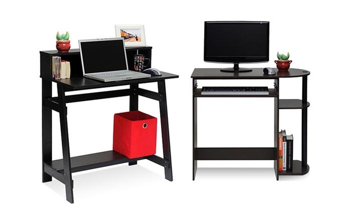 Roll Over Particle Board Desk ~ Furinno computer desks groupon goods