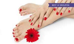 Hands Tanned: Shellac Manicure or Pedicure (£9.50) or Both (£16) at Hands Tanned (Up to 68% Off)