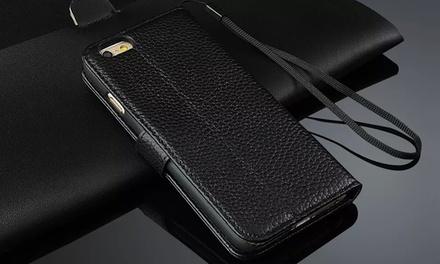 Funda protectora de cuero para iPhone y Sumsung Galaxy por 9,99 € (75% de descuento)