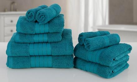 Lot de 10 serviettes en 100% coton égyptien 500 gsm