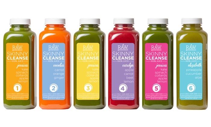 Raw Generation: Three-Day Skinny Juice Cleanse from Raw Generation(43% Off).